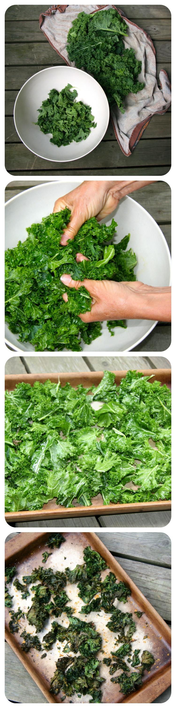 Kale chips steps