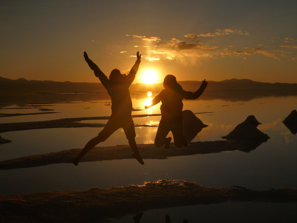 Sunrise on the Salt Flats in Bolivia
