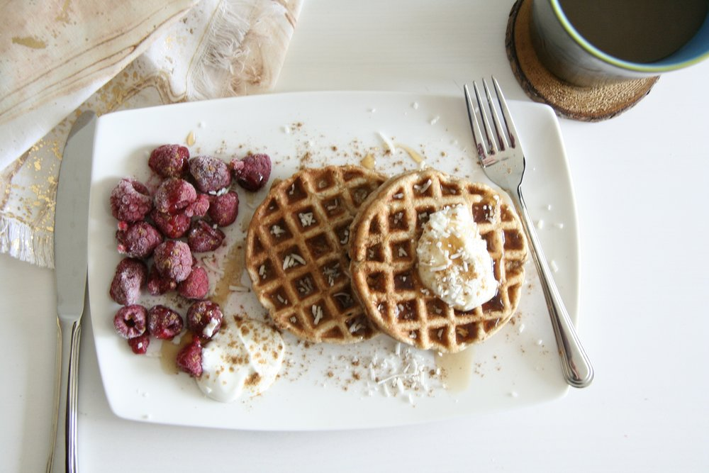coconut chai toaster waffles 3