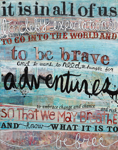 to be brave print