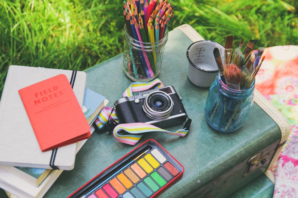 Camp Chickadee art supplies