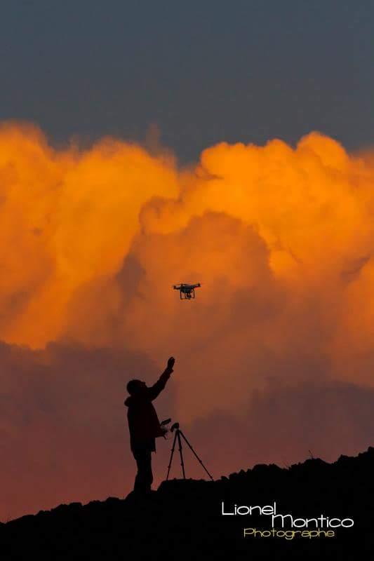 Au coucher du Soleil , photographie par Lionel