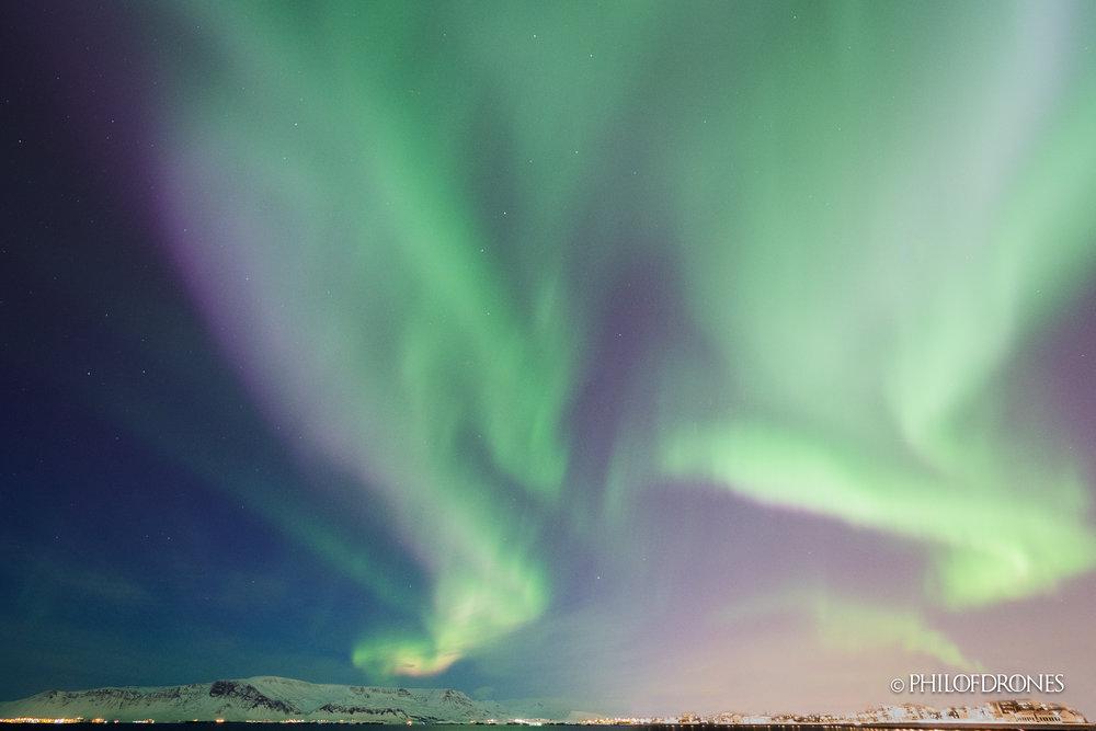 Aurore sur Reykjavik