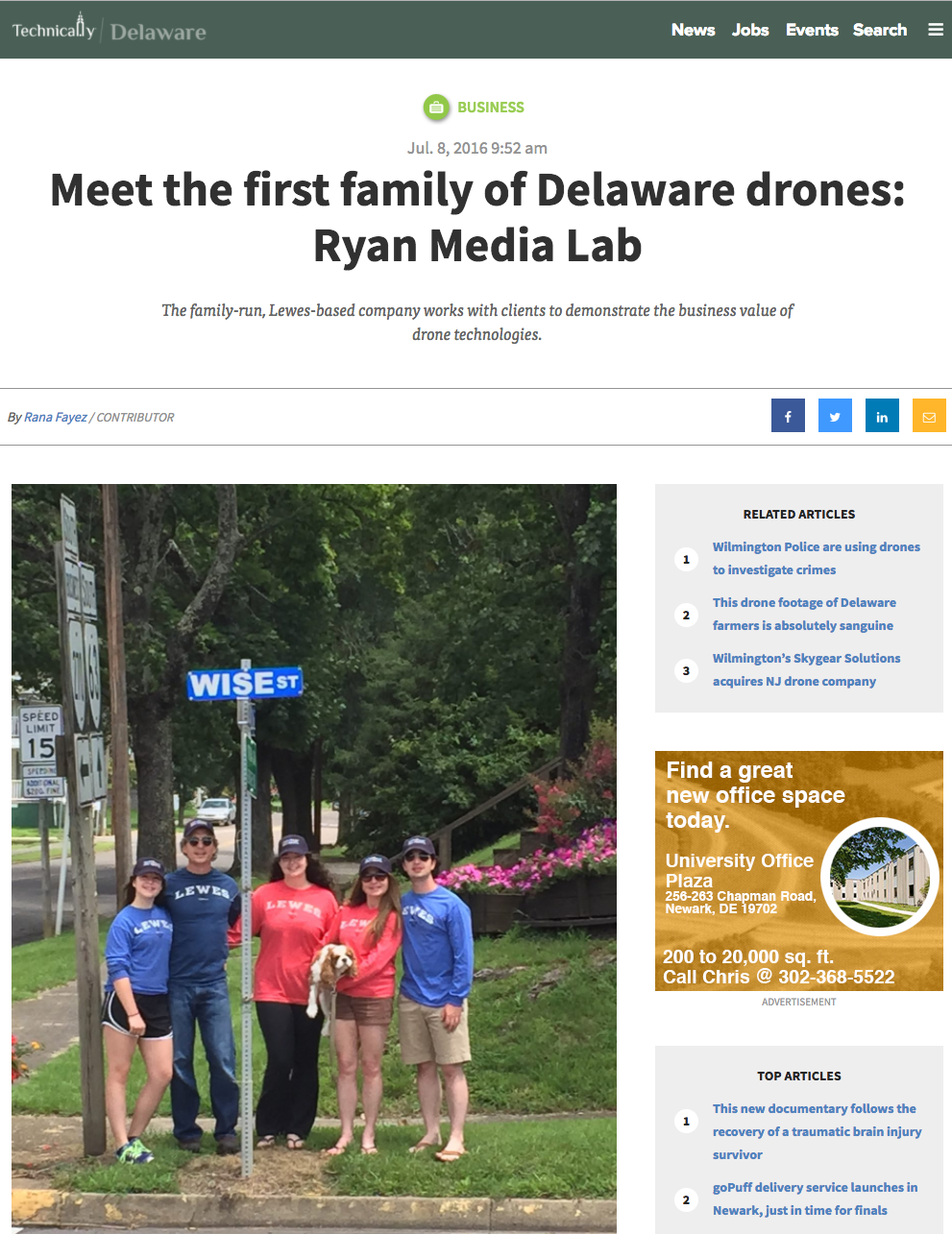 "- ""Can your family discuss drones at length over the dinner table? This family can."""