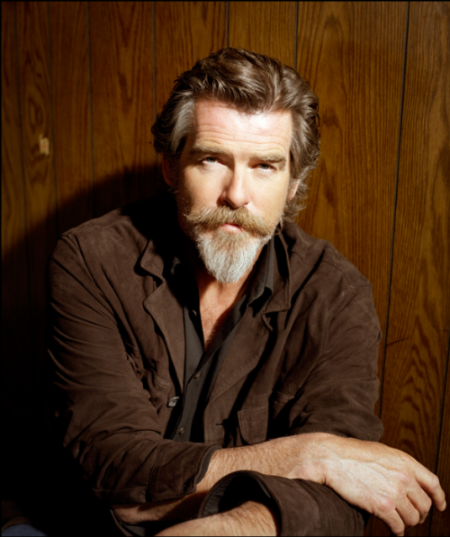 Pierce Brosnan rocking a Van Dyke