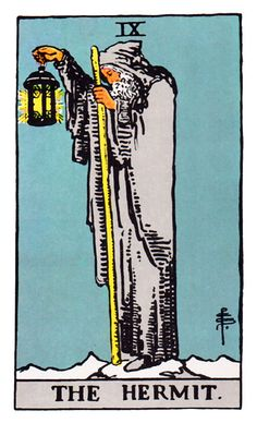The Hermit (Rider Waite deck)