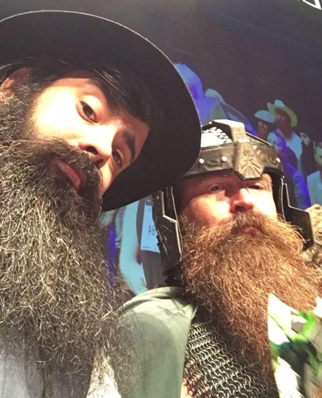 #flashbackfriday to that time #MKEbeard @ryanjmanske helped rescue the Hobbits from the clutches of Isengard at the #2017WorldBeardandMuatacheChampionships  Photo: @refinerymke  #refinerymke #mkebeardbook #Milwaukee #milwaukeephotographer #mkehome #beards #beard #beardgang #beardlife #beardstagram #beardedmen #beardedtogether #portrait #selfie #lotr #gimli #hobbits #lordoftherings #dwarf #cosplay #cosplaylife #lotrcosplay #thehobbit