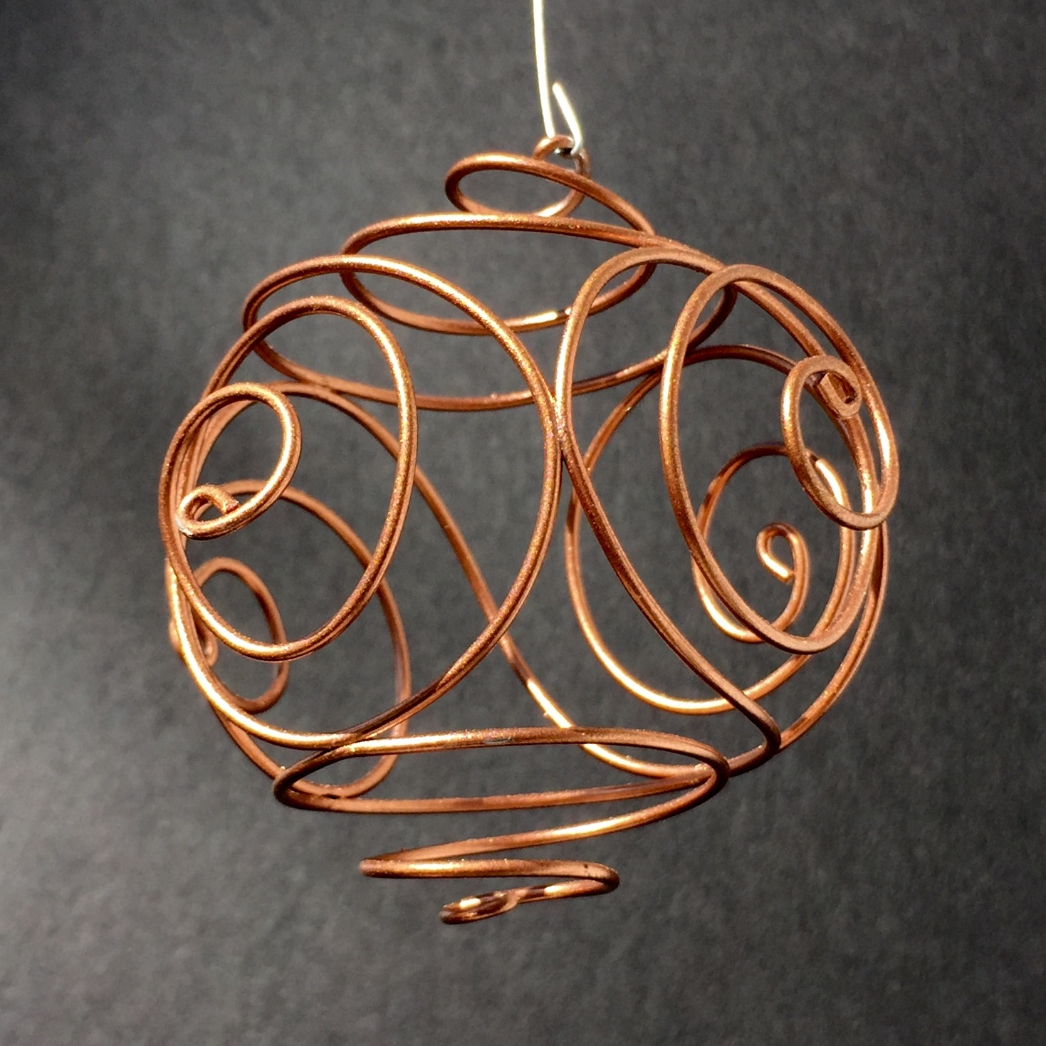 Handmade wire ornaments in copper, silver, and gold — STEVENBUCKART.COM