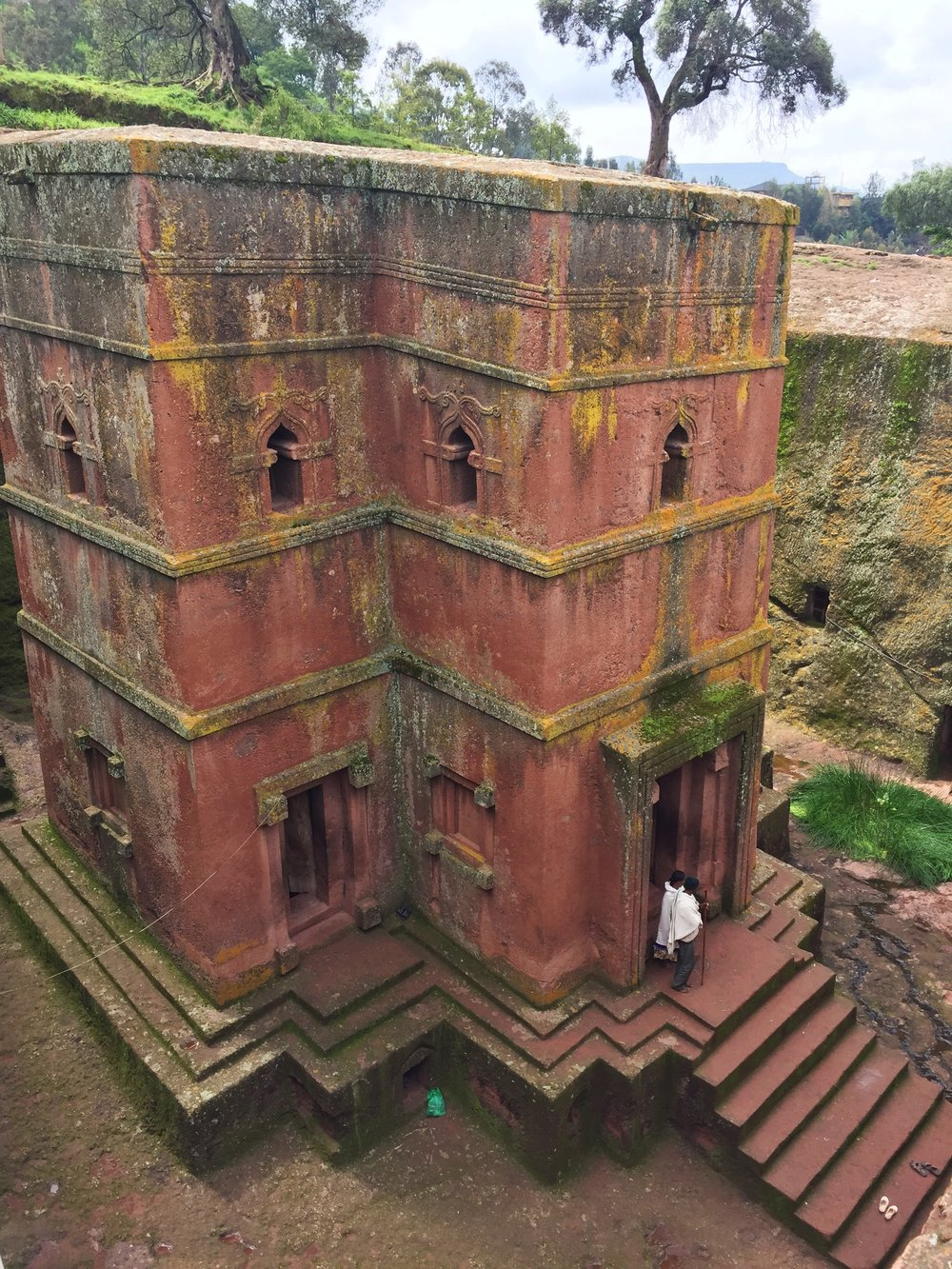 Church of St. George, one of eleven rock-hewn churches in Lalibela