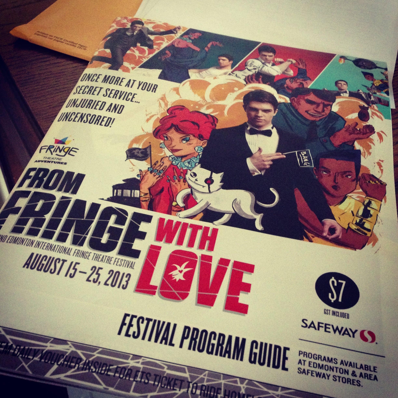 Biggest Fringe program I've ever seen.