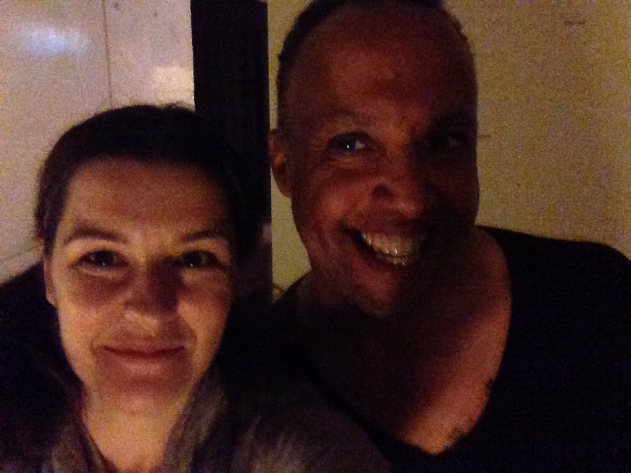 Backstage selfie with Bradley for the Me & my Monkey/Roller Derby Saved My Soul double-bill in Cochrane.