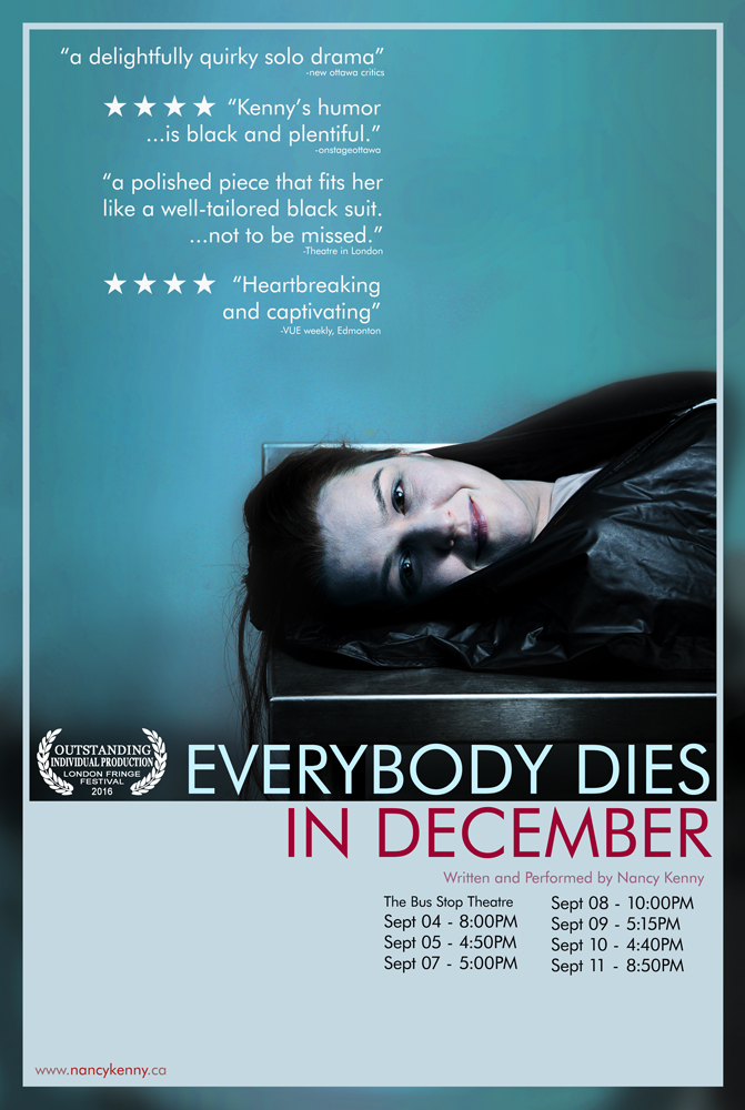 Show poster for Everybody Dies in December