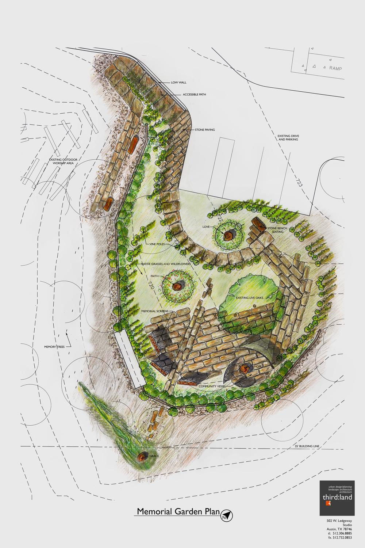 Garden Plan Rendered 11x17 Redesign