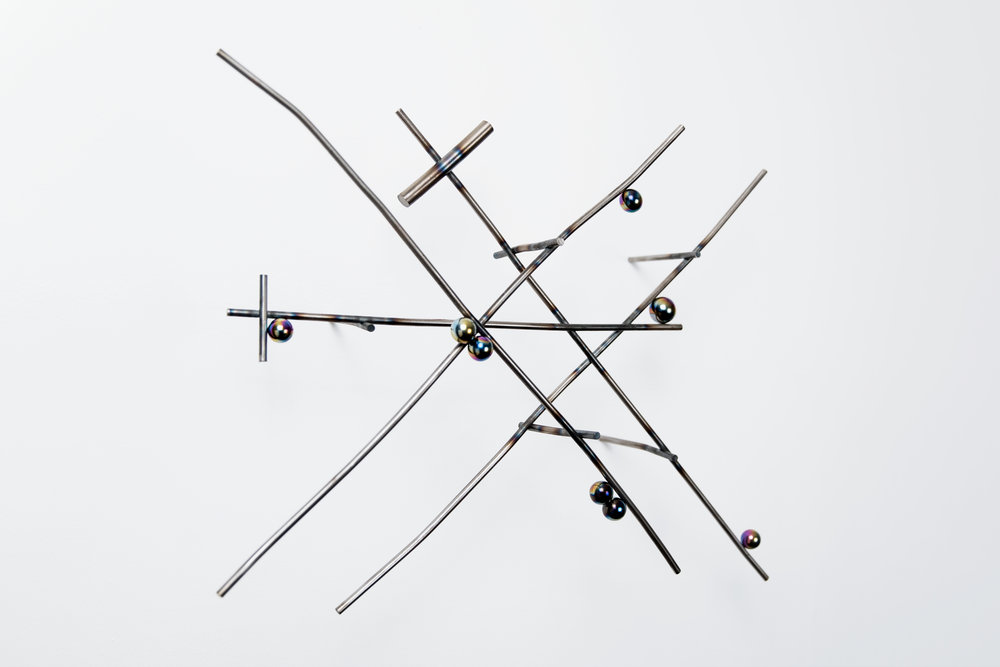 Sean Talley, no!syNoise41, 2017, Steel and magnets, 17 x 21 x 7 inches