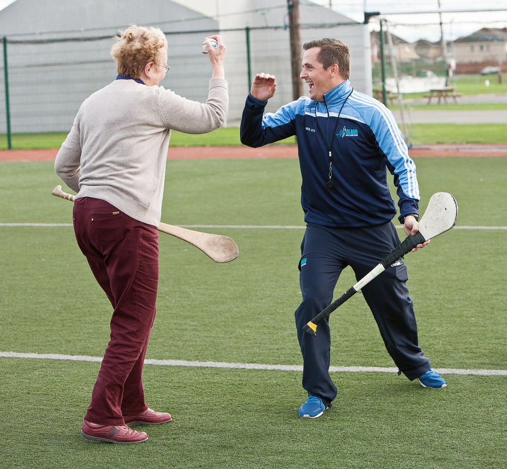 Clash Gaelic Games high five.jpg