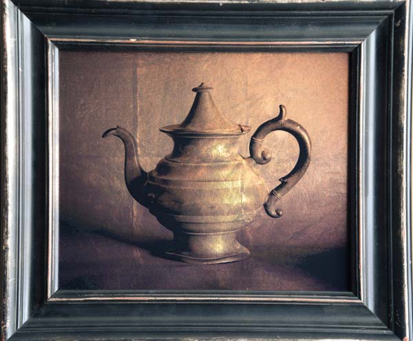 Old Pewter Teapot