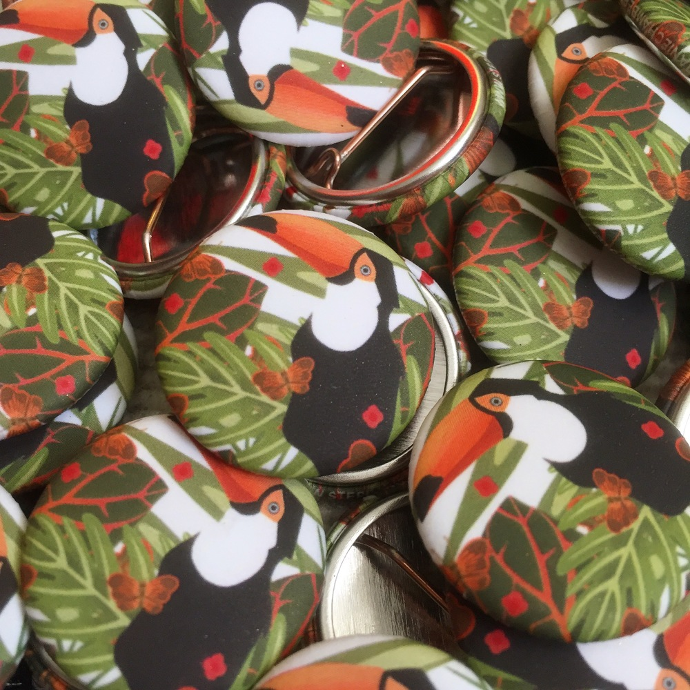 Toucan Buttons