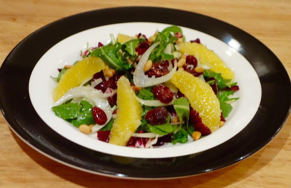 Radicchio Salad with Fennel, Oranges & Pine Nuts