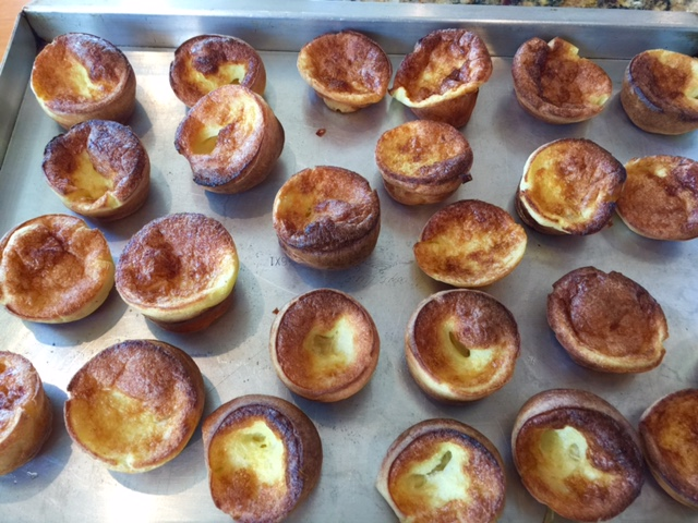 Mini coconut popovers