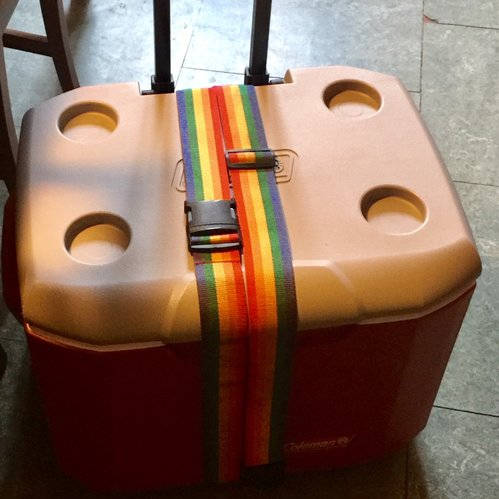 The cooler on wheels that I purchased at Target.