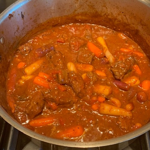 Completed stew.