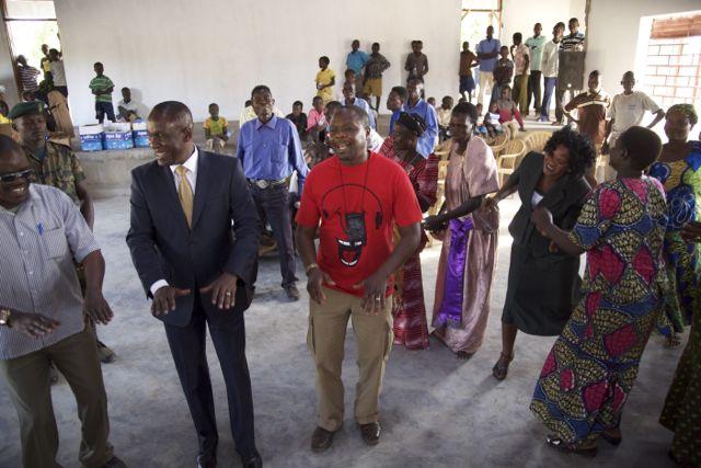 George Akwaput – Director, AACAN; Capt. Michael Mukula – Member of Parliament, Soroti Region; Samite Mulondo – Founding Director, MWH (l to r)