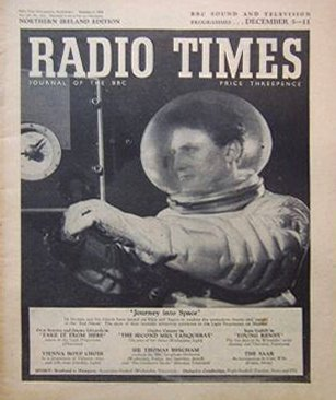 Radio Times cover for the first series of Journey into Space.