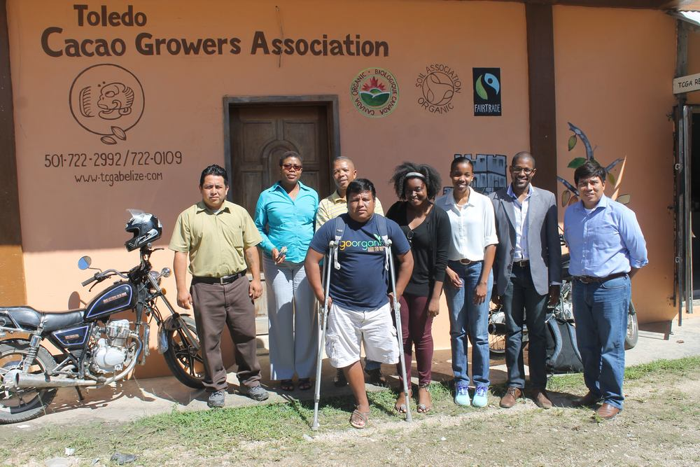 Participants in the consultations with cacao industry stakeholders, including representatives from the Toledo Cacao Growers Association, Maya Mountain Cacao, the Directorate General for Trade in Belize, and consultants from MFR&Co.