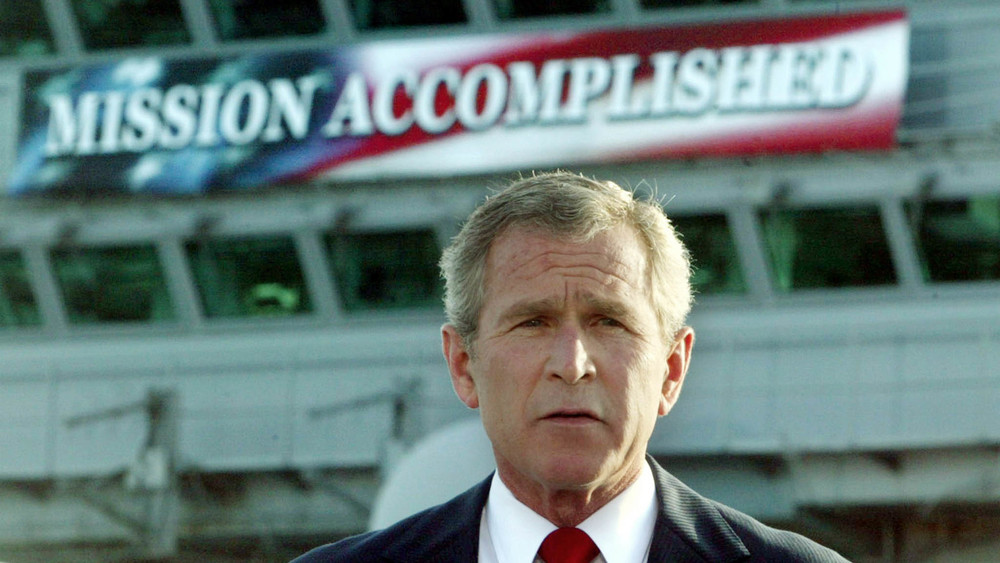 """May 1, 2003, the war on terror is finally over."""