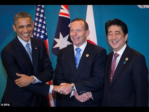 "The first image that comes up when you google ""awkward handshake"""