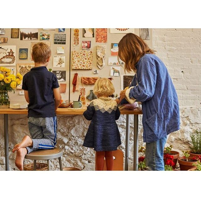 @knitwitknitwit visited my studio! Check it out in the latest issue. Here's a shot by @susiecushner of me and my kiddos. ❤
