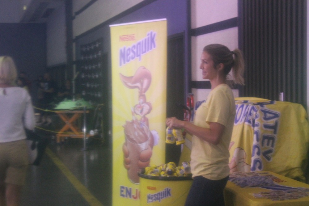 sponsors nesquik gave out free chocolate milk