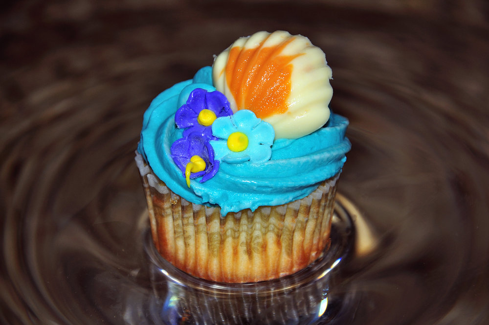 Cupcake on Glass