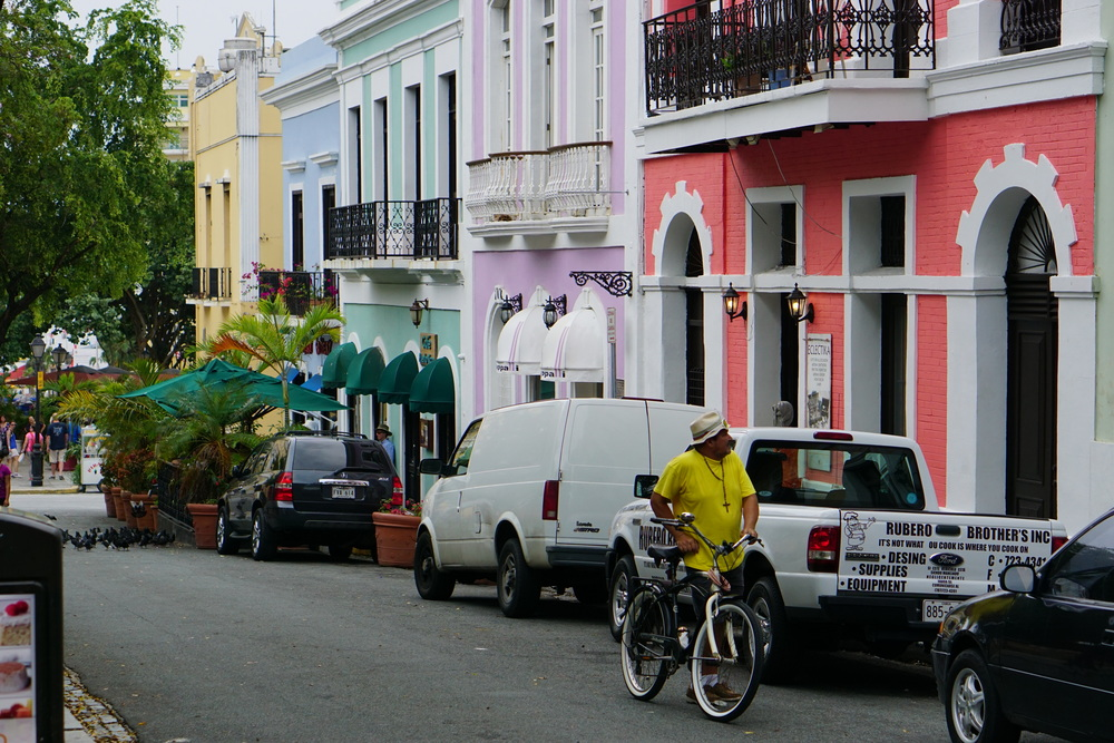 Cyclist, Old San Juan