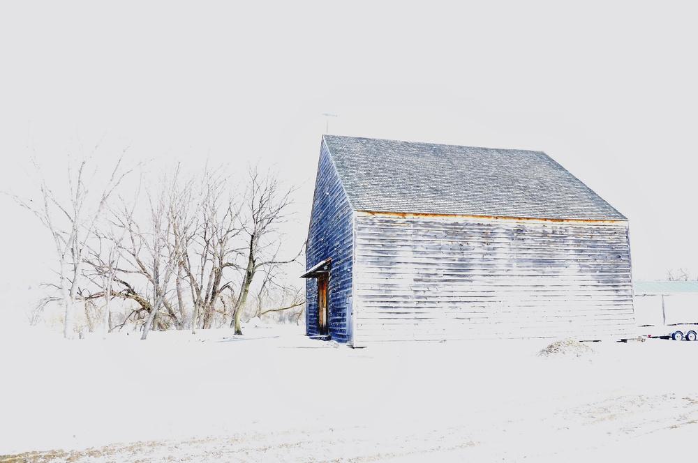Barn in White