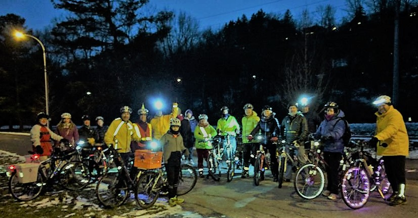 The shortest bike ride on the shortest day of the year...   2017 Winter Solstice Ride  Thu, Dec 21 5 PM at Ithaca Children's Garden   See the Facebook event