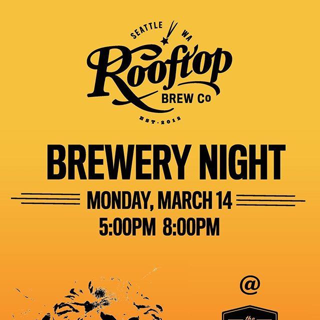 It begins! Come join the fun! #brewersnight #wabeer #beernews @rooftopbrewco @washingtonbeer