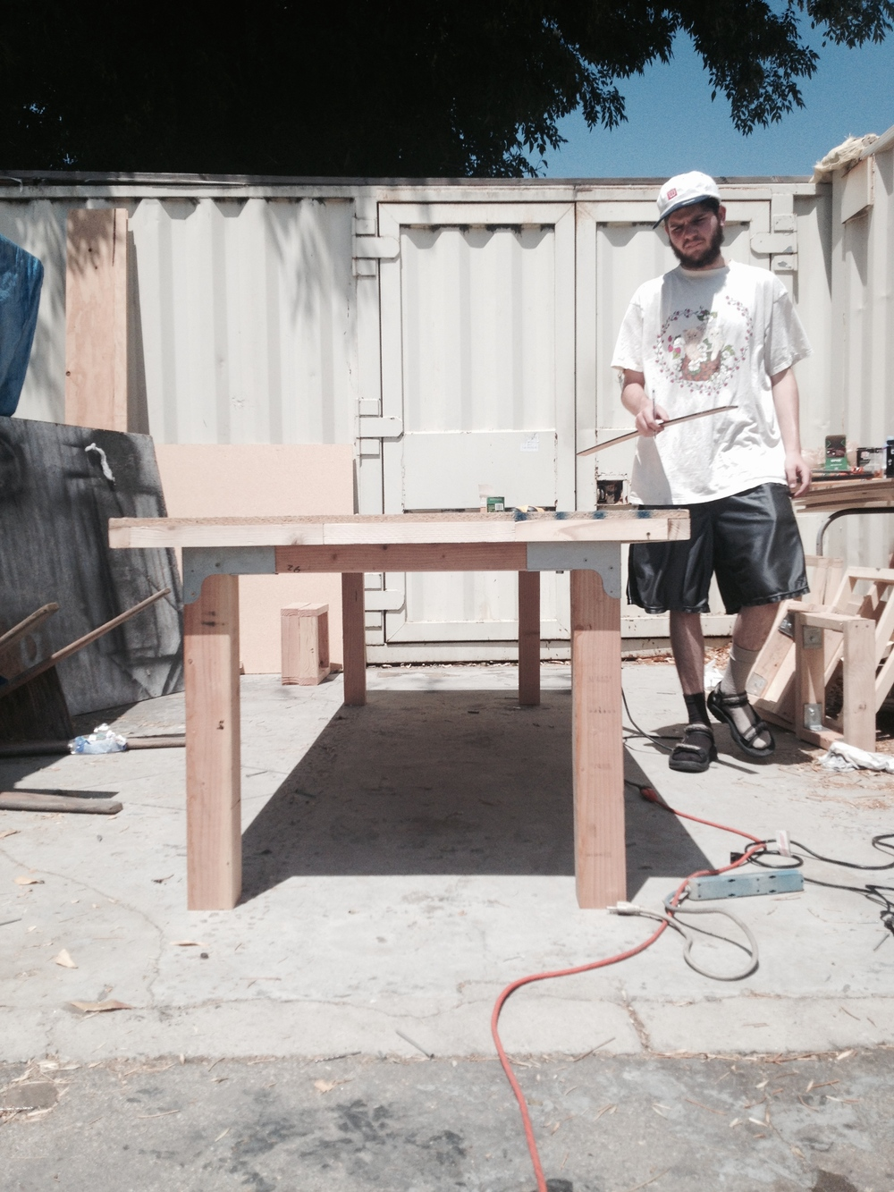 constructing dining room table