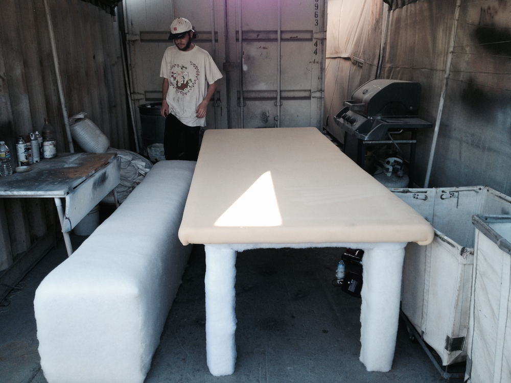 upholstering dining room table