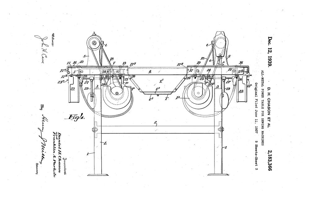 Singer Patent