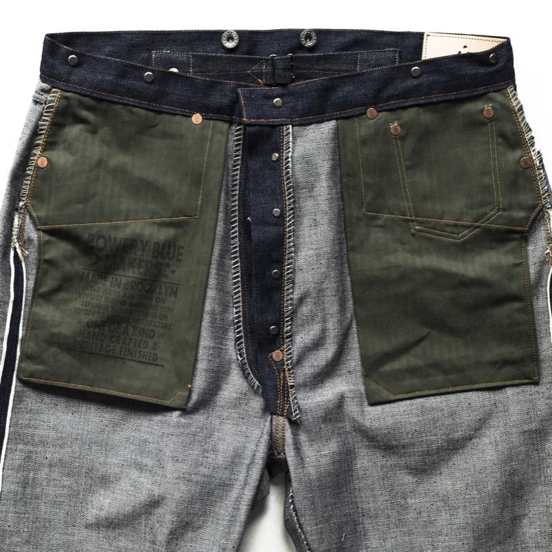 Custom Hand pockets Olive HB Cotton cloth