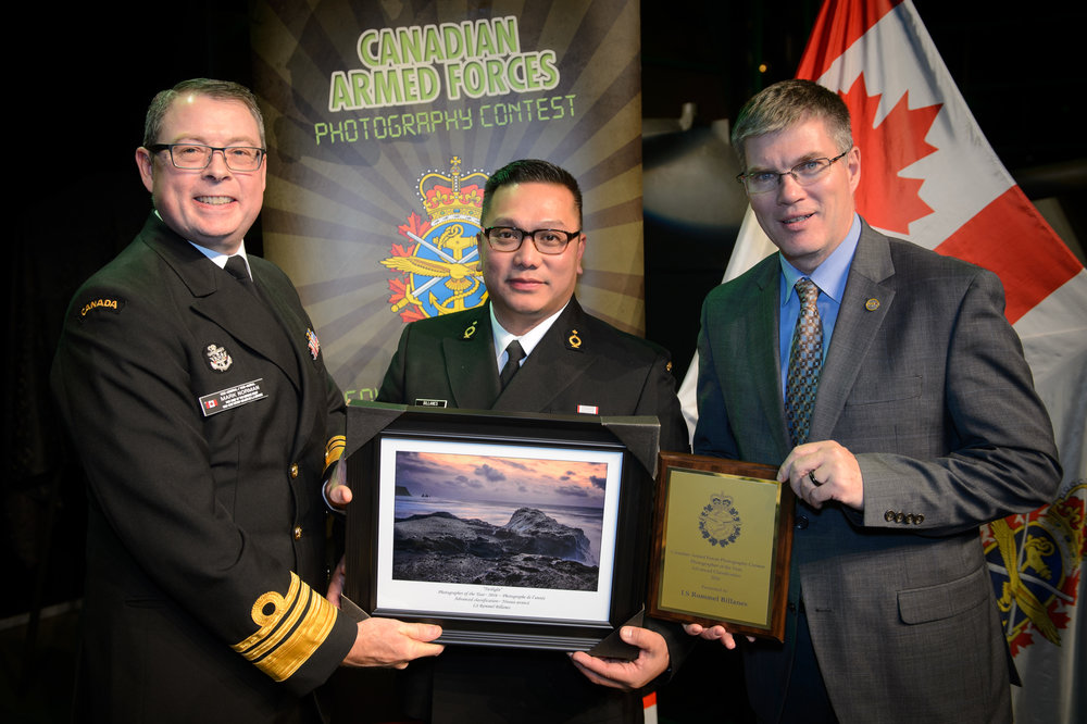 Canadian Vice-Chief of the Defence Staff, Vice-Admiral Mark Norman (left) presented to me the Photographer of the Year Award (Advance Classification).