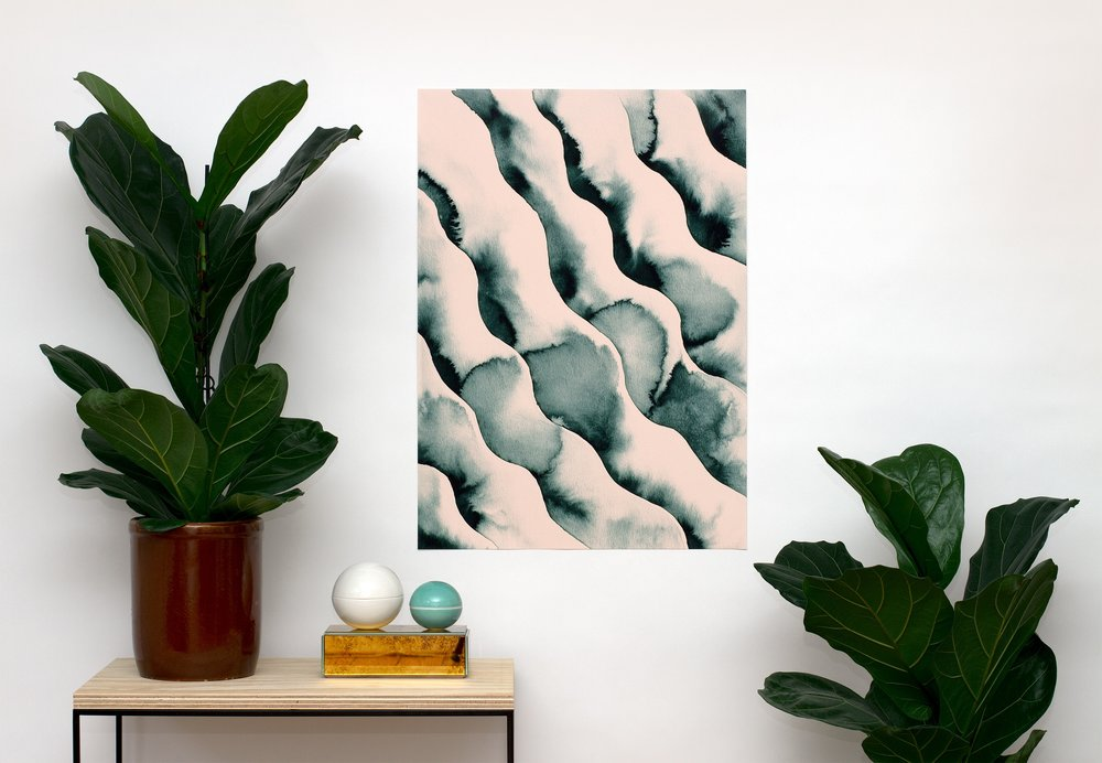 Waves - Green & Pink —Kristina Krogh