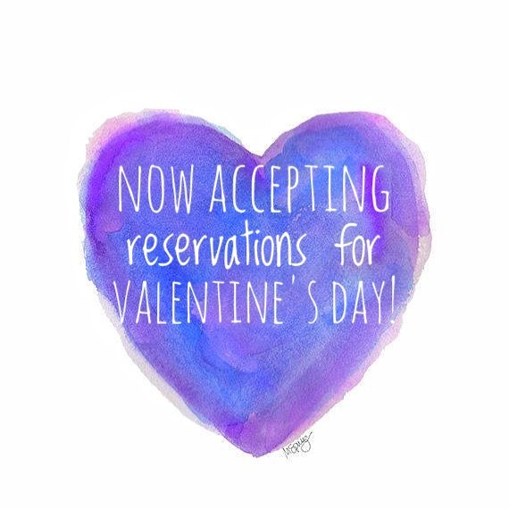 Call 910-4429 to make your reservation now! We will have slots available every 30 minutes starting at 6:00pm. Come join us for a special menu and drinks! #eatsouthmarketpace #eatplayrelax #drinksouthmarketpace #southmarket #valentinesdayourway