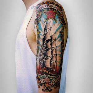 Tattoo Clipper Ship Oakland Artist Heath Preheim Jpg
