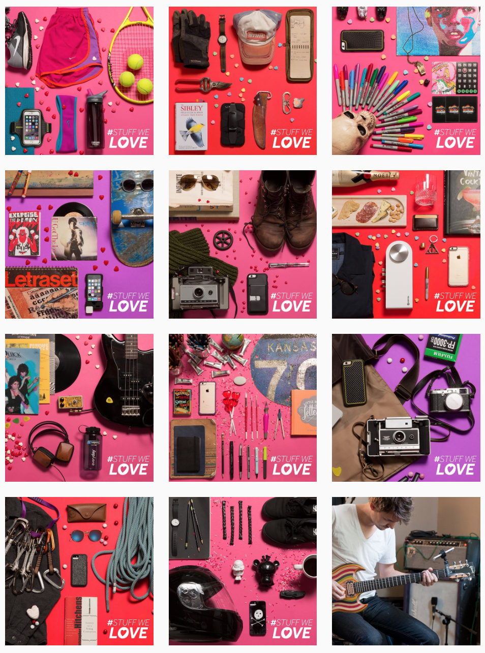Griffin Technology - Valentines Instagram campaign - We asked our creative team to tell s about the stuff they love. Of course some that stuff was Griffin Tech gear.