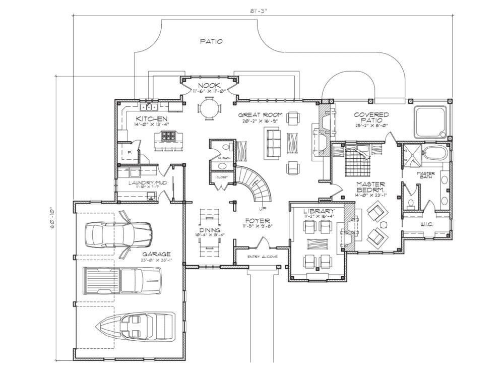 Timber Frame Home (main floor plan)