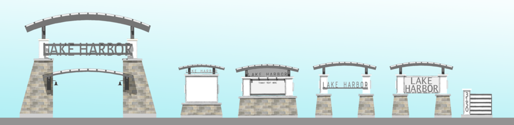 Lake Harbor Renovation Study (sign studies)