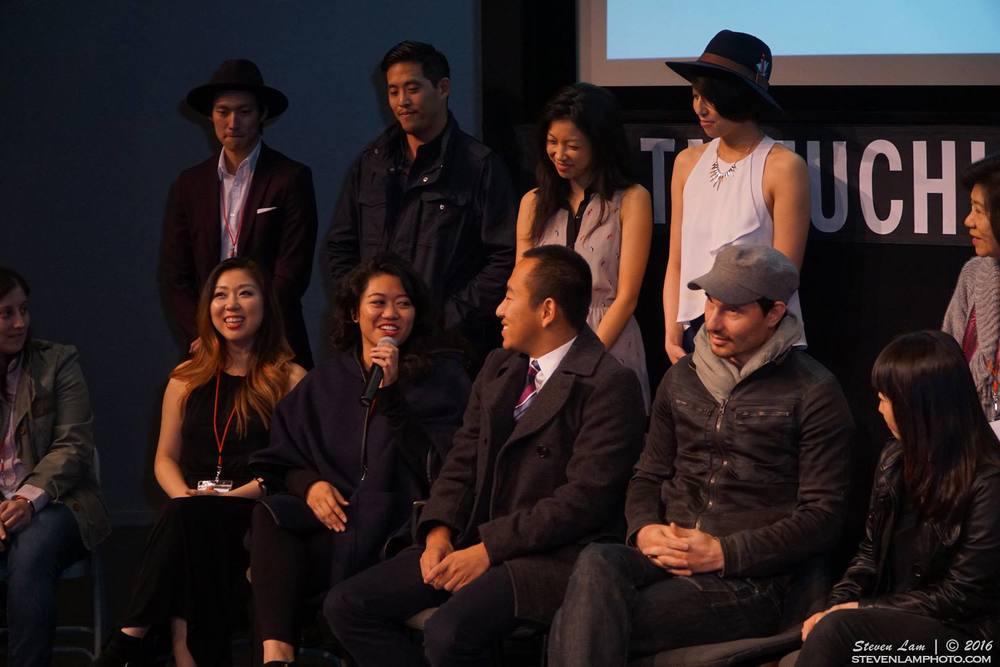 Diana, myself, David, Chris Park, George Tsai, Jenny Soo and Mina Son during the Q&A