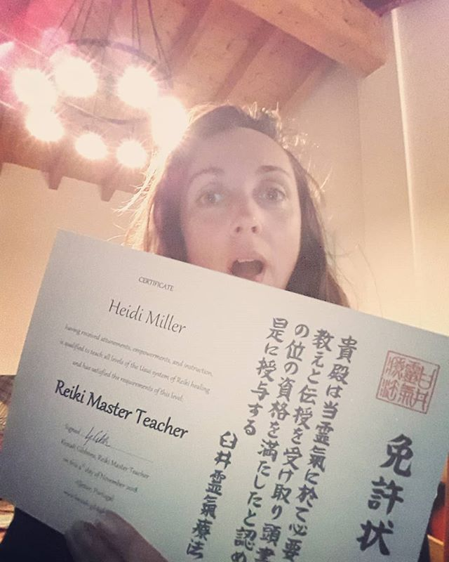 Boom! I am now a Reiki Master. Can't say it's been easy working and researching with the new energies. A tough summer but finally a certificate.. but with all things Reiki it's a lifetime of work which doesn't end here. #reiki #energy #light #love #life #master #teacher #selfie #portugal